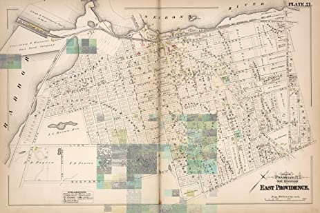 Amazon.com: East Providence (R.I.), City Atlas Map, Plate 21. Atlas ...