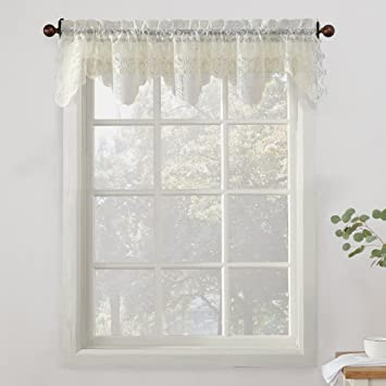 No. 918 Alison Sheer Lace Kitchen Curtain Valance, 58\