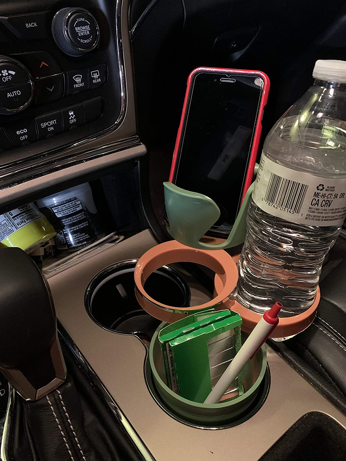 Blue 5 in 1 Car Cup Drink Phone Holder Multi-Functional Mugs Organizer Detachable Cell Auto Sunglasses Coins Keys Drink Storage Organizer