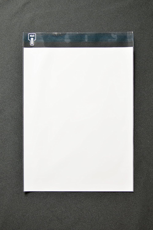 印刷OPP袋 角3 【1,000枚】 50μ(0.05mm) 表:白ベタ 横216×縦280+フタ30mm B009116FRQ 半透明-1000枚 半透明-1000枚