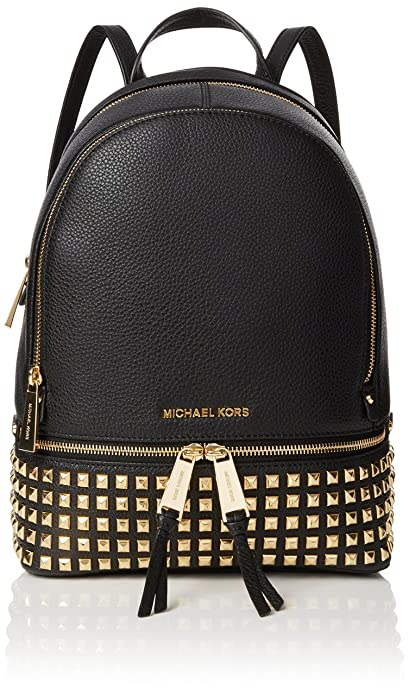 305ba6d306bbec Michael Kors Womens Rhea Zip Backpack Black (Black): Amazon.co.uk ...