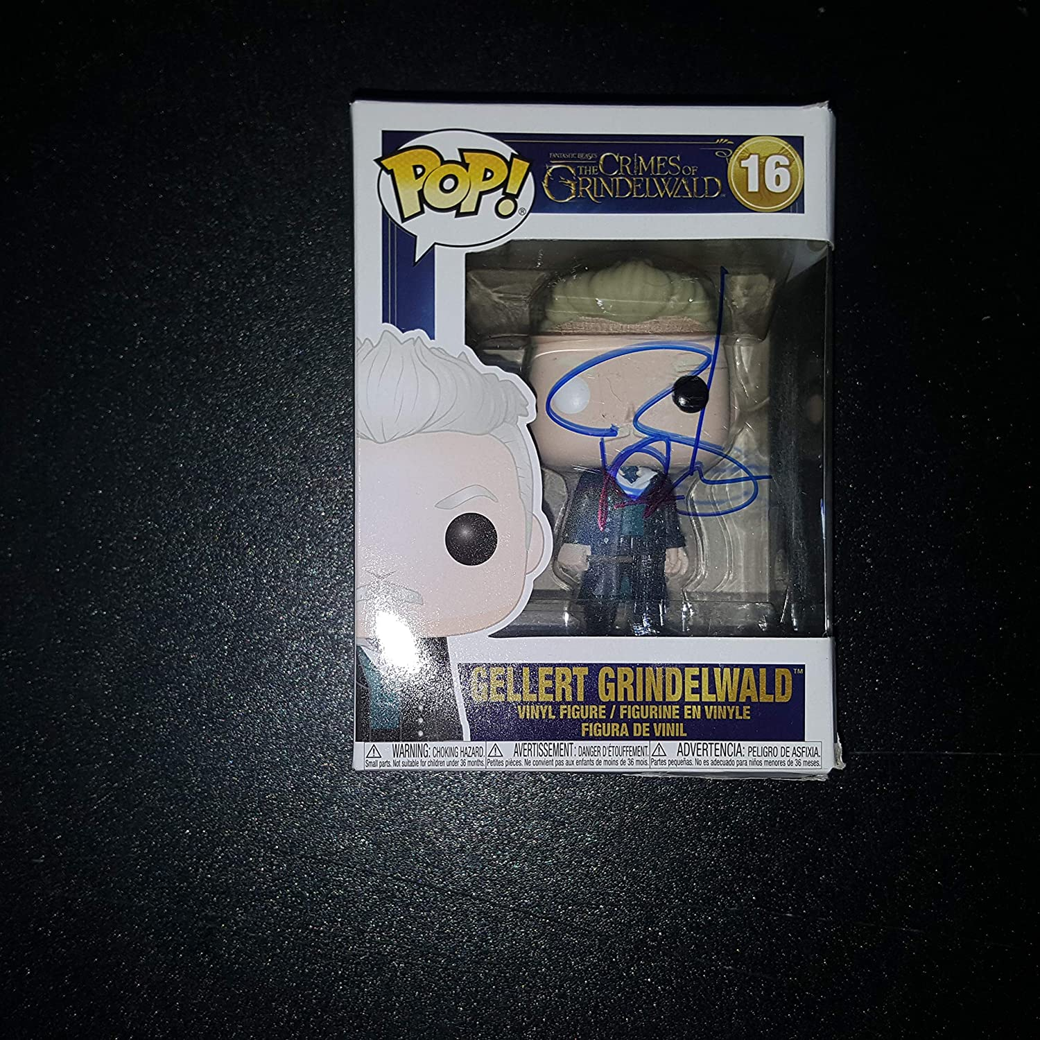 JOHNNY DEPP - Autographed Signed GELLERT GRINDELWALD FUNKO POP Vinyl Figure FANTASTIC BEAST THE CRIMES OF GRINDELWALD Harry Potter COA