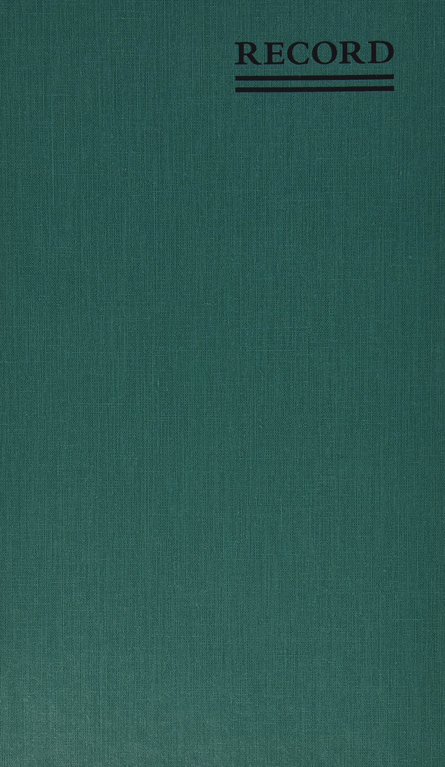 NATIONAL Emerald Series Record Book, Green Canvas Cover, 500 Pages, 12.125'' x 7.5''  (56151) by NATIONAL