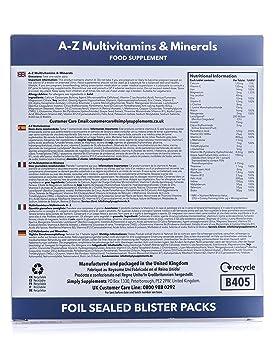 A-Z Multivitaminas y minerales - Con 31 nutrientes ...