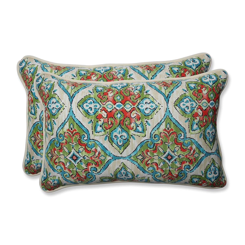Pillow Perfect Outdoor Indoor Splendor Opal Rectangular Throw Pillow, 2 Piece