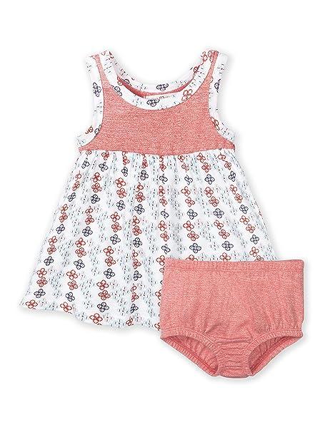 4270931fdacfc Colored Organics Baby Girls' Organic Swing Tank Dress - Hot Coral/Garden  Print -