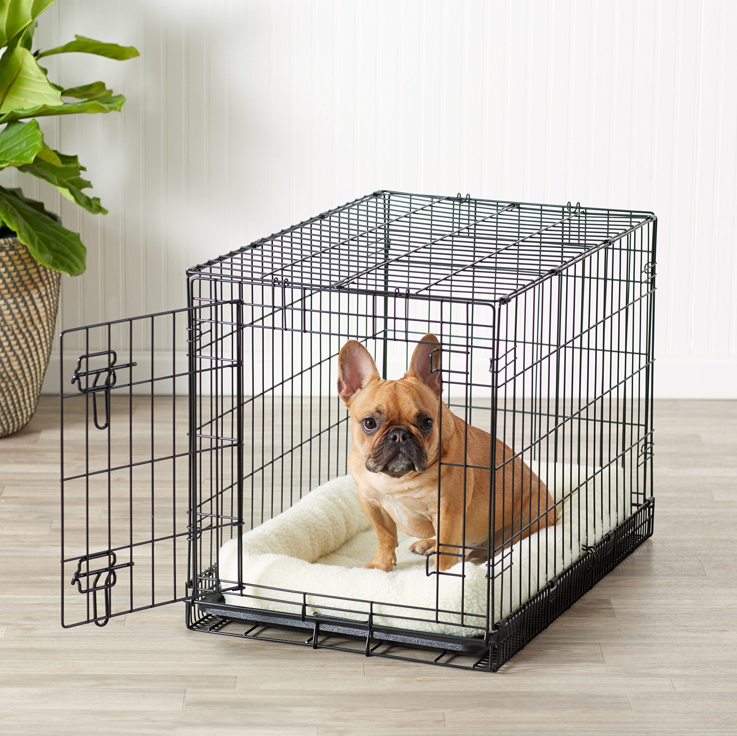 AmazonBasics Single Door Folding Metal Crate Kennel For Dog or Puppy - 30 x 19 x 21 Inches