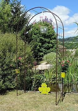 Louis Moulin Arco Enrejado Hierro Envejecido, Marrón Chocolate, 130x40x250 cm, 3146: Amazon.es: Jardín