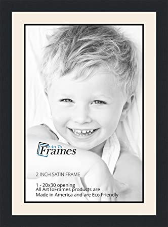 Amazon.com - 20x30 / 20 x 30 Picture Frame Satin Black .. 2\'\' wide ...