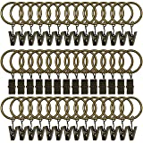 Topspeeder 42 Pack Curtain Rings with Clips