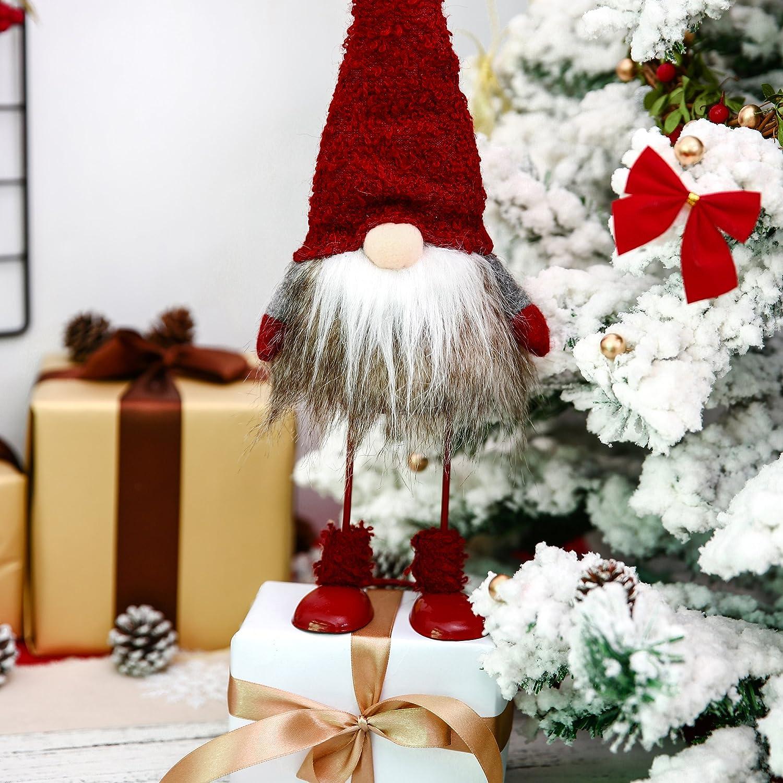Amazoncom Itomte Handmade Swedish Tomte, Santa  Standing Figurines Plush