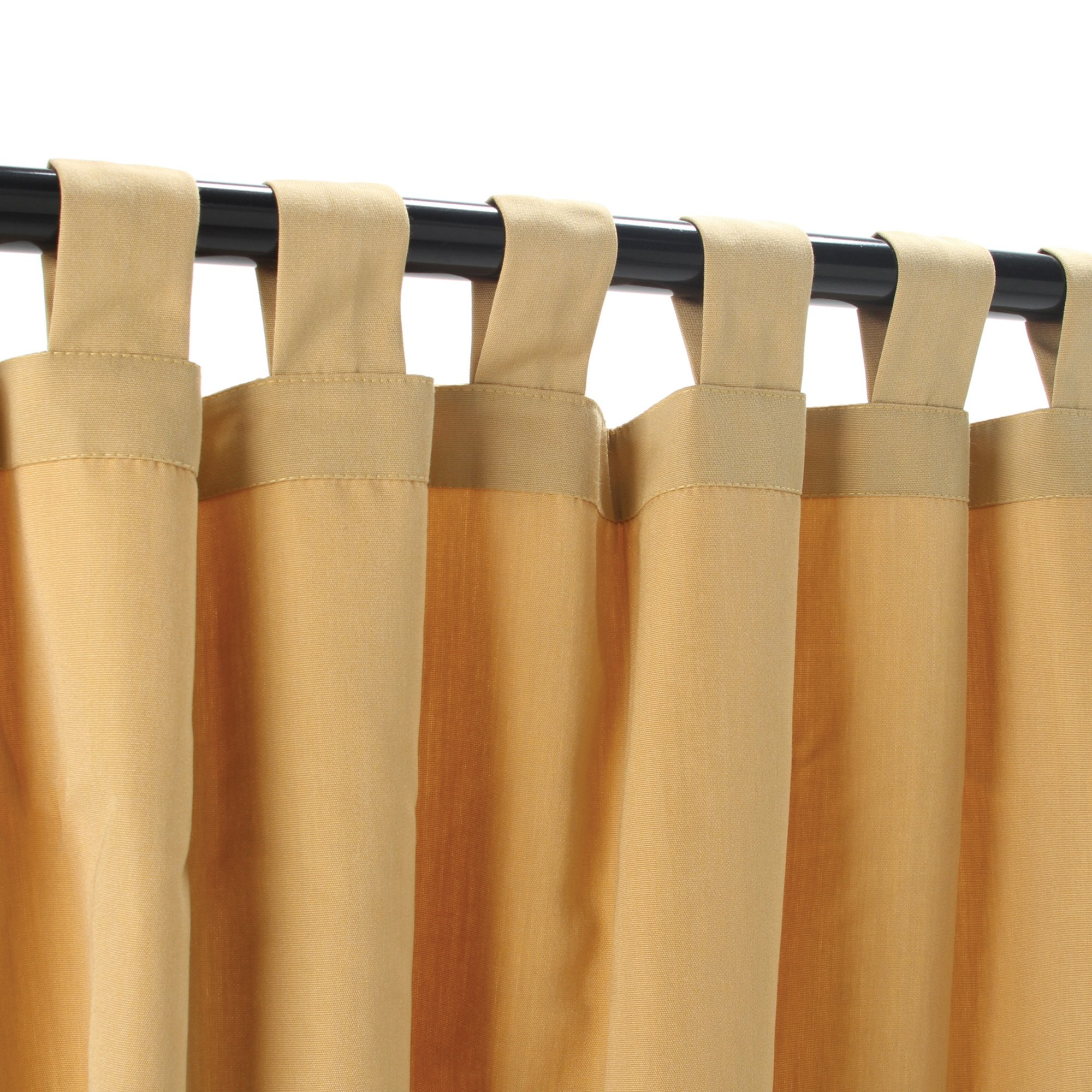 Sunbrella Outdoor Curtain Panel, Tab Top, 50 by 108 Inch, Wheat and Sizes Includes Custom Storage Bag; Perfect for Your Patio, Porch, Gazebo, Pergola, and More
