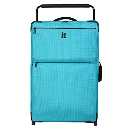 it luggage World's Lightest Los Angeles 32.4 inch Upright, Turquoise 2 Tone