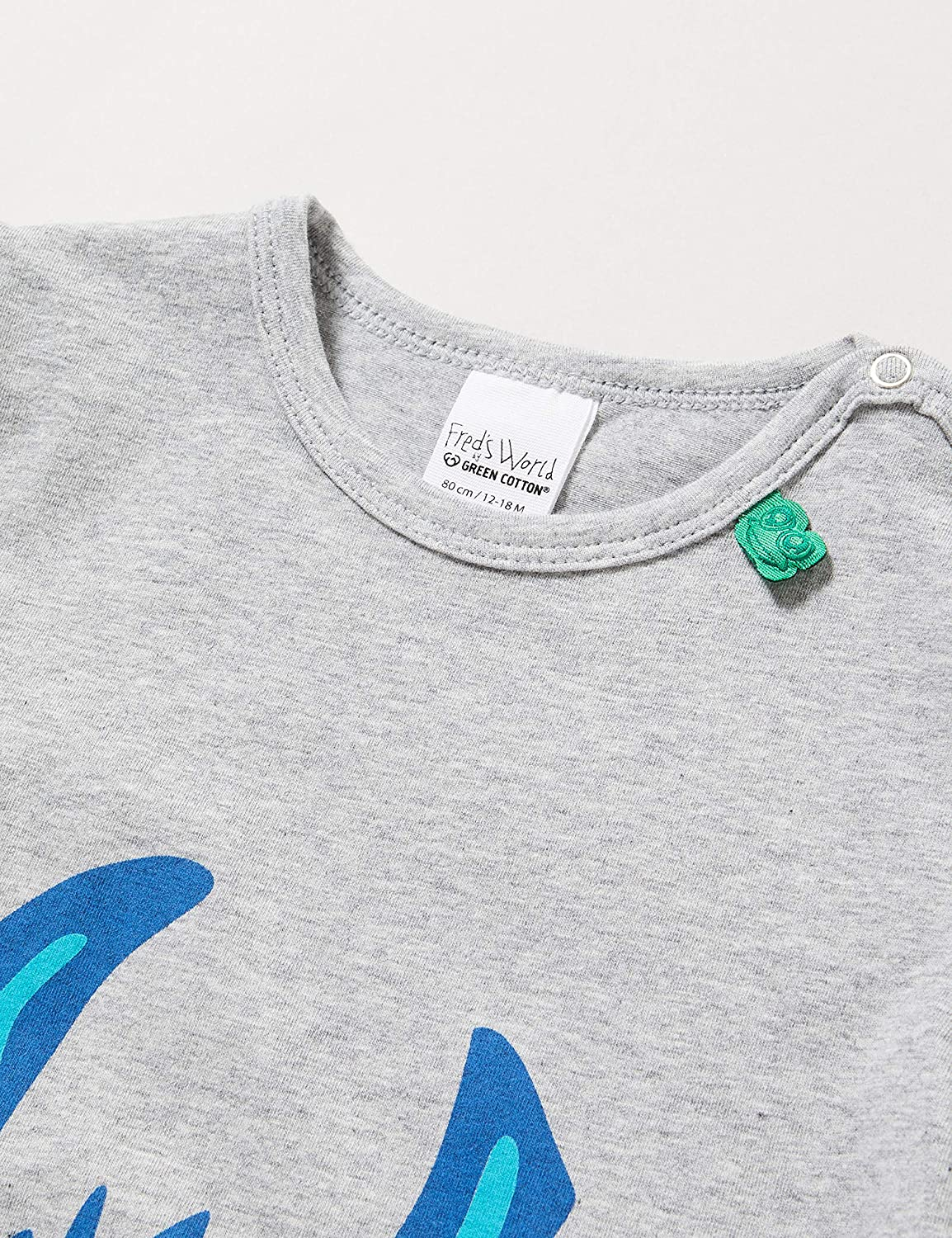 Freds World by Green Cotton Baby-Jungen Lama S//S Front T-Shirt