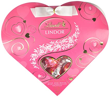 LINDOR Valentine Milk with White Chocolate Mini Gift Heart, 3.4oz ...