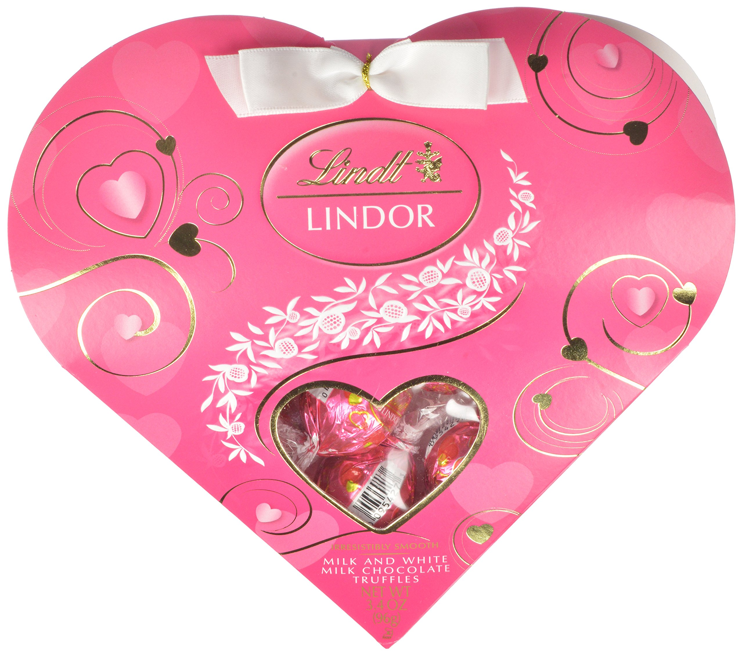 Amazon lindor valentine milk chocolate truffles mini gift lindor valentine milk with white chocolate mini gift heart 34oz negle Gallery