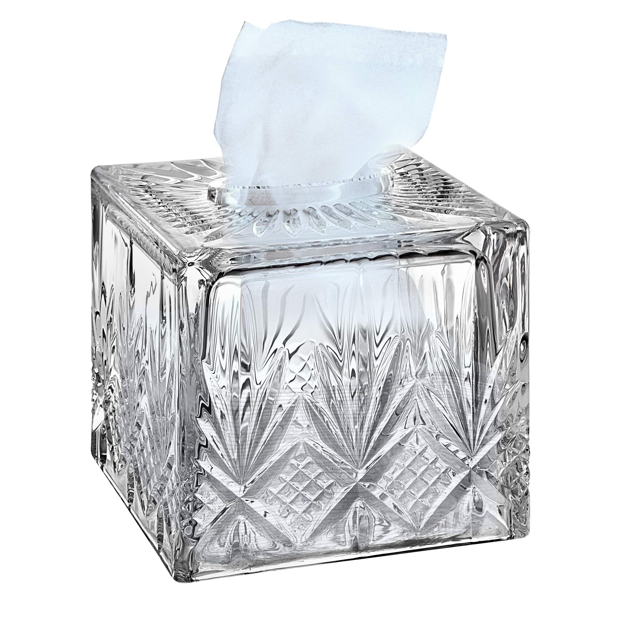 Godinger Dublin Crystal Tissue Box by Godinger