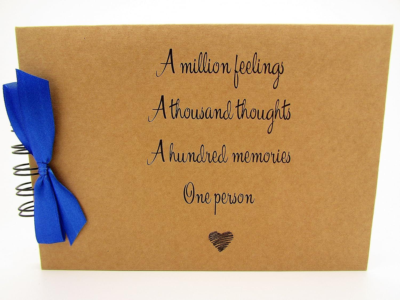 A5 A million feelings Memory Book Scrapbook Album Gift Keepsake Present birthday Keepsake Condolence Any Occasion