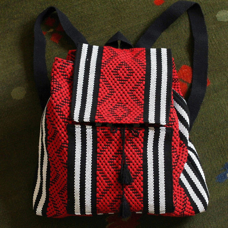 NOVICA Multicolor 100/% Cotton Backpack Cardinal Geometry