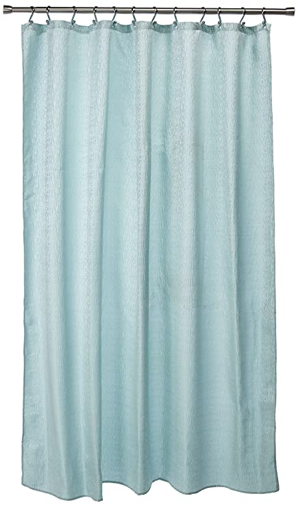 Image Unavailable Not Available For Color Dainty Home Kingston Fabric Shower Curtain Blue