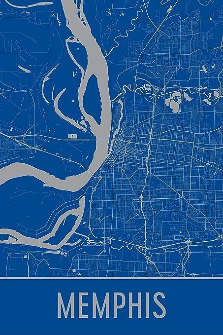 Amazon.com: Memphis Print, Memphis Art, Memphis Map, Memphis ...
