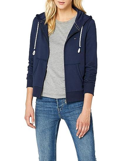 5aca514e Tommy Jeans Women's Essential Zip Hoodie Sweatshirt, Blue (Black Iris 002),  Small