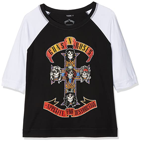 Guns & Roses N Appetite for Destruction, Camiseta para Mujer, Negro Black, ...