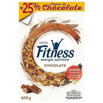 Cereales Nestlé Fitness con chocolate con leche - Copos de trigo integral, arroz y avena