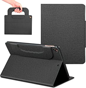 New iPad Case 9.7 inch with Handle,ANG PU Leather Business Case with Auto Wake/Sleep Function,Folio Stand Case with Cover for iPad 9.7 inch 2018 /2017/iPad Pro 9.7/iPad Air 2/iPad Air(Black)