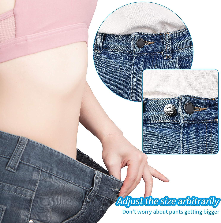 Instant Buttons GANCHUN 8 Pieces Replacement Jean Buttons 17mm No Sew Metal Button Detachable Jean Button Pins for Blazer Jeans Pants Uniform Suits Jacket Sport Coat