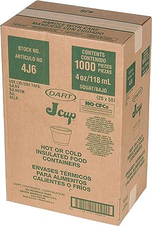 Amazon Com Dcc Dart 4j6 Bowl Containers Foam 4oz White Case Of 1000 Home Kitchen