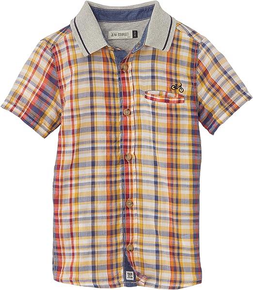 Jean Bourget - Camisa para niño, talla 8 años (8 años), color amarillo: Amazon.es: Ropa y accesorios