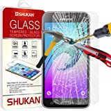 SHUKAN® Premium Tempered Glass Crystal Clear LCD Screen Protector Guard & Polishing Cloth FOR Samsung Galaxy J3 [TG907 - NDL7]