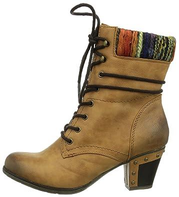 Rieker 97621 20 Damen Halbschaft Stiefel: : Schuhe z2Bsf