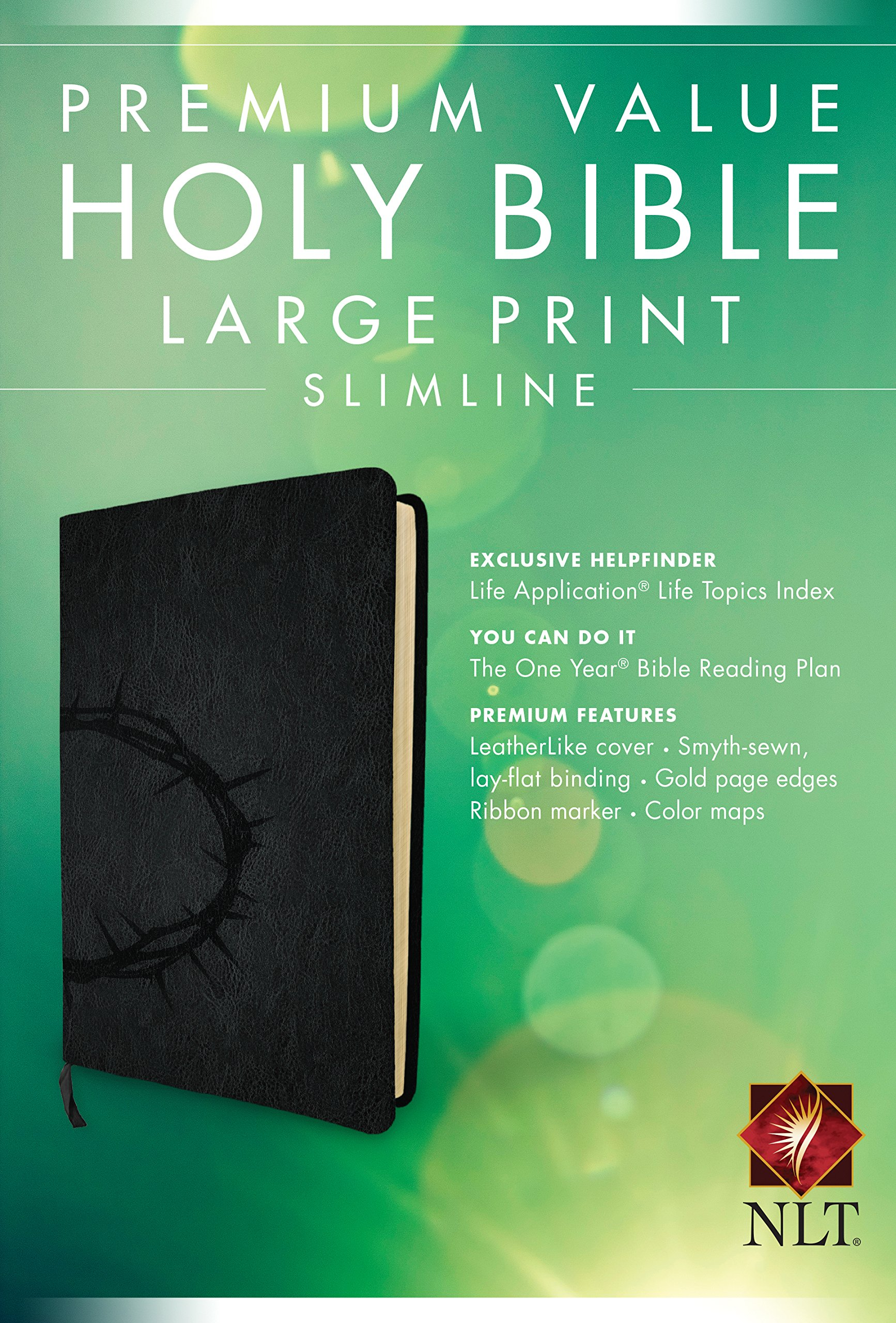 Premium Value Slimline Bible Large Print NLT, Crown