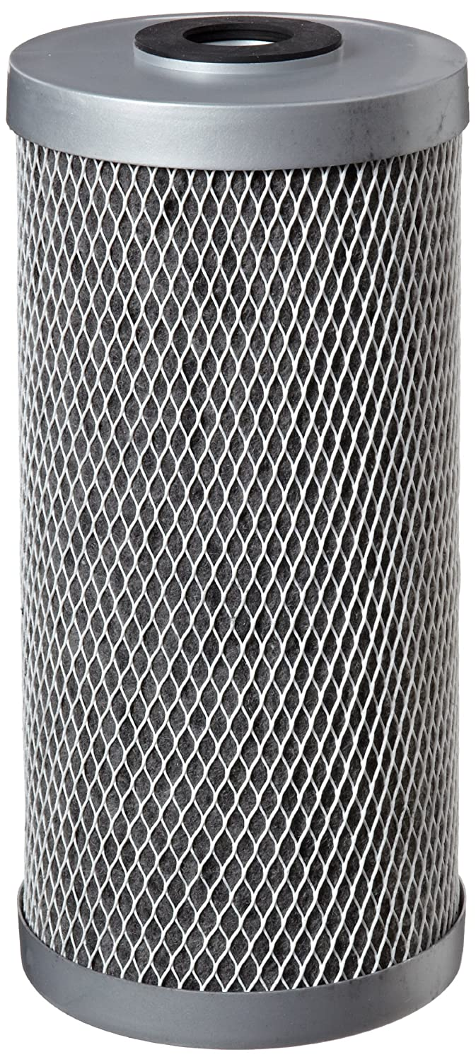 "Pentek FloPlus-10BB Carbon Block Filter Cartridge, 9-3/4"" x 4-5/8"", 0.5 Micron"