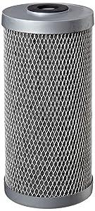 "Pentek FloPlus-10BB Carbon Block Filter Cartridge, 9-3/4"" x 4-5/8"", 0.5 Micron"