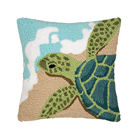 Amazon.com: Tortuga ondas Hooked almohada: Home & Kitchen