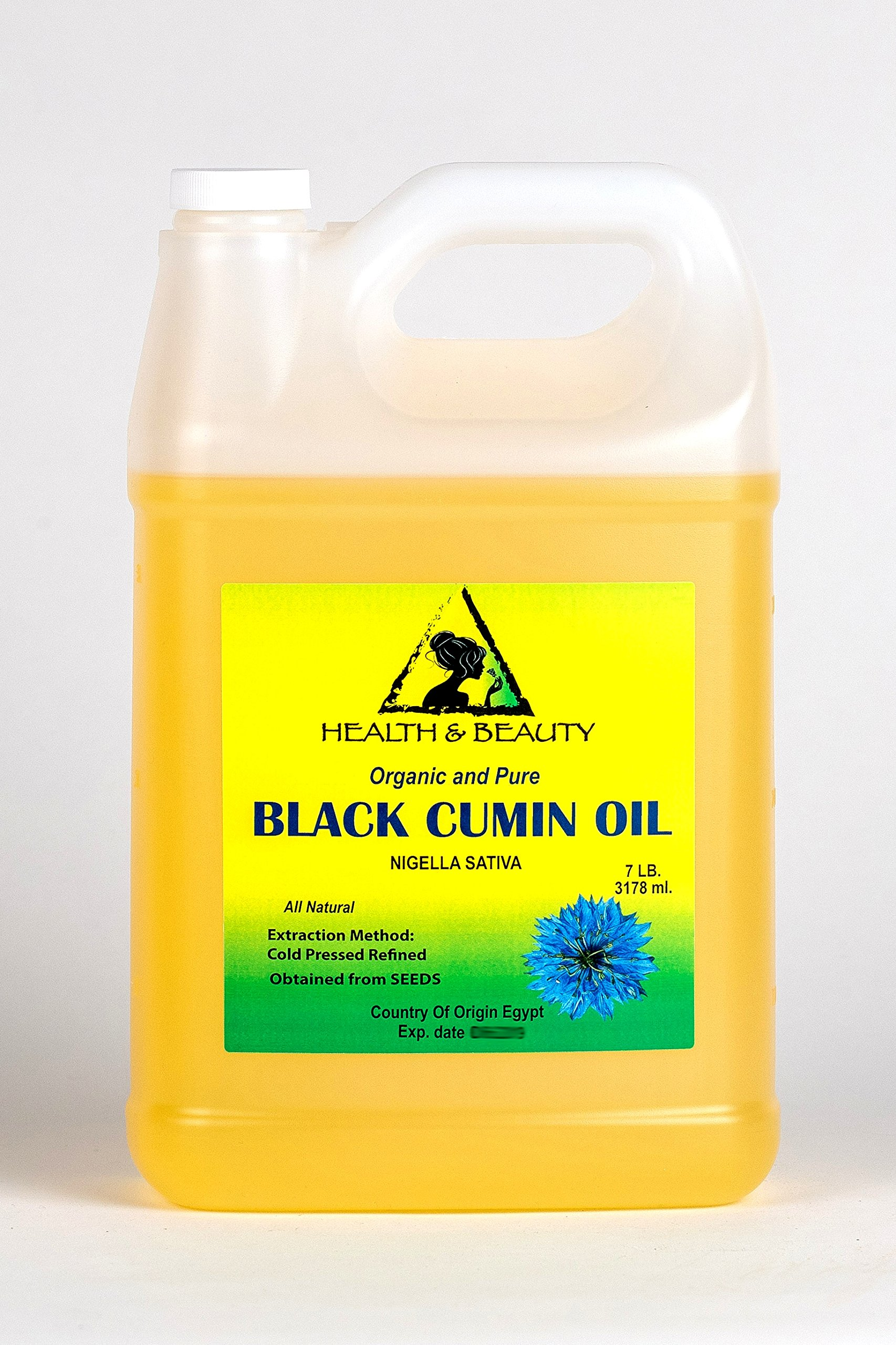 Black Seed Oil / Cumin Oil Refined Organic Carrier Cold Pressed Natural Fresh 100% Pure 128 oz, 7 LB, 1 gal