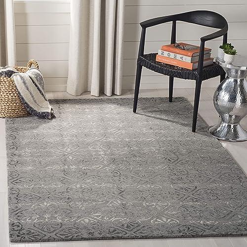 Safavieh Dip Dye Collection DDY101A Handmade Wool Area Rug, 8 x 10 , Grey