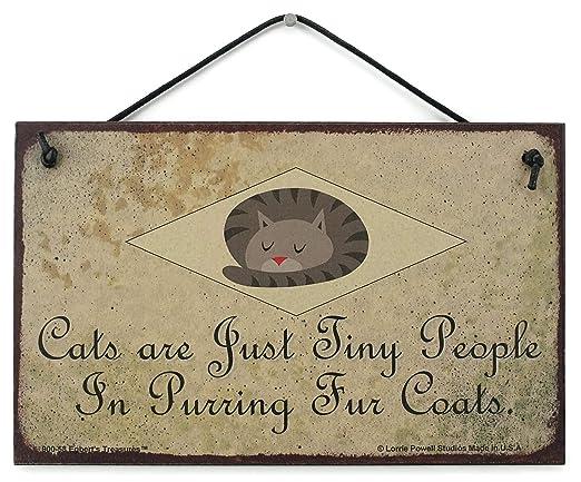 Egberts Treasures - Cartel de Estilo Vintage con Gato de 5 ...