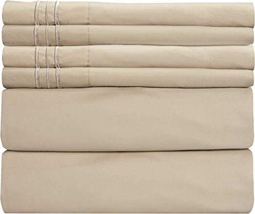 Amazon.com: Extra Deep Pocket Sheets   6 Piece Sheet Set   Cal