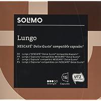 Marchio Amazon- Solimo Capsule Lungo, compatibili Dolce Gusto*- caffè certificato UTZ- 96 capsule (6 x 16)