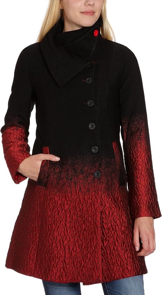 Desigual Manteau Femme Rouge (Borgoña 3007) FR : 36