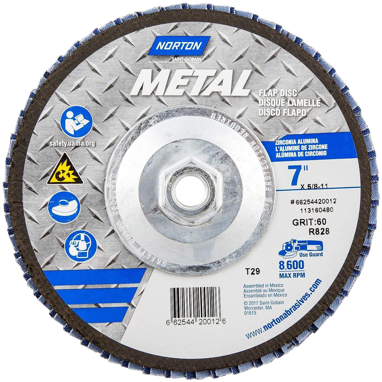 Norton 66254420012 Abrasive Flap Wheels Size 7 x 5//8-11 60 Grit