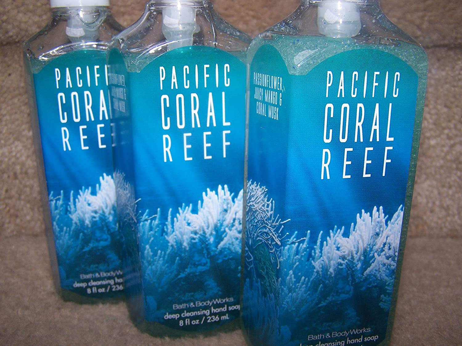 Amazon.com : Lot of 3 Bath & Body Works Pacific Coral Reef Deep ...