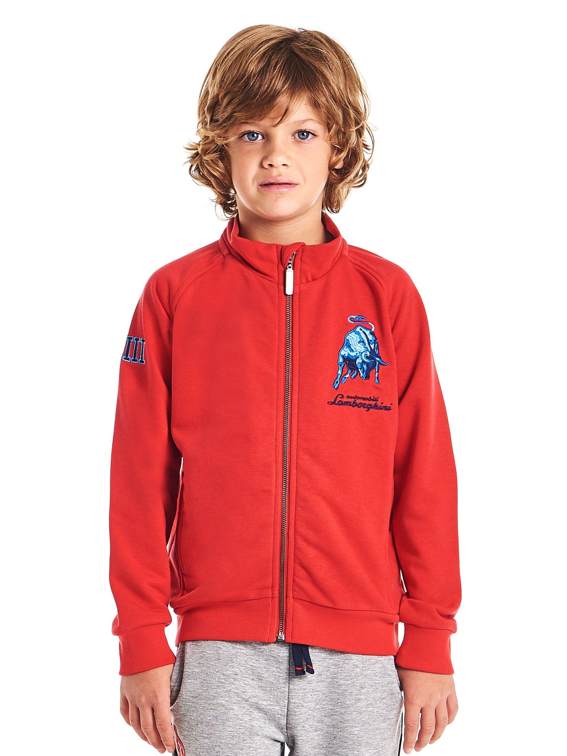 Automobili Lamborghini Children Lamborghini Kids Bull LXIII Sweatshirt 12 Years Red
