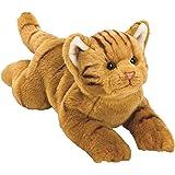 Classique chat tigré orange en peluche - taille moyenne de la gamme Yomiko
