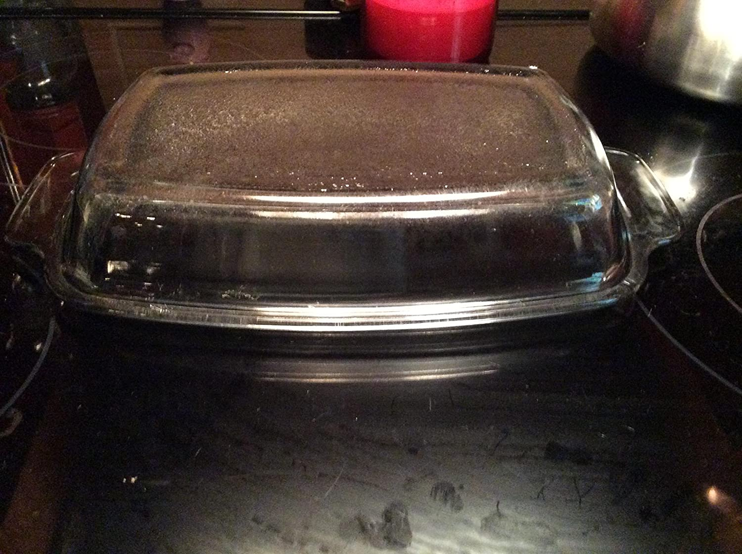 1980s West Bend Slow Cooker LID/CASSEROLE DISH ONLY ! SMOKY GLASS !!
