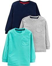 Simple Joys by Carter's - Camisetas de Manga Larga para niño (3 Unidades)